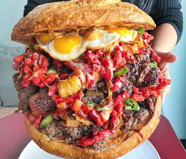 This 15lb Burger Is Dubbed The Belly Of The Beast Blog Unlokt